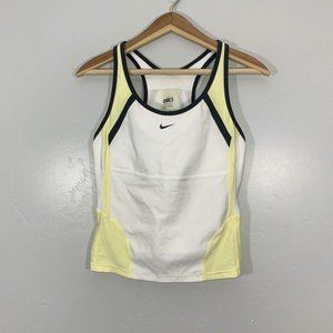 Nike Fit Dry White Yellow Athletic Running Top
